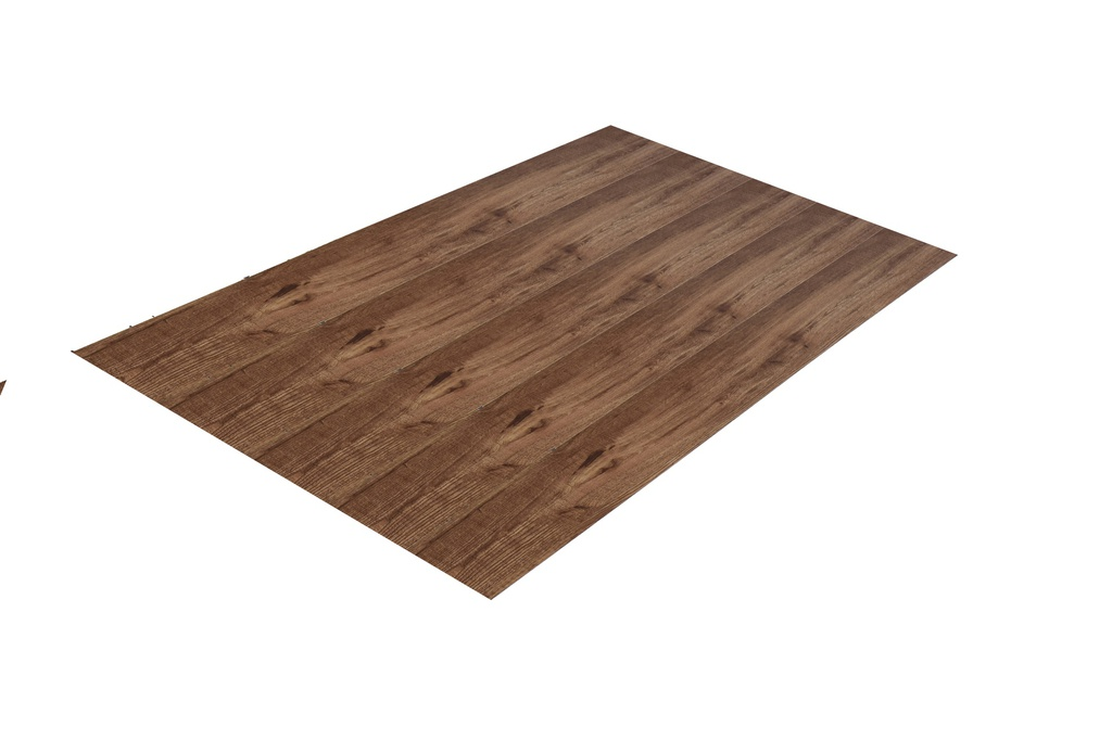 PISO VINIL CON ANTIRUIDO COLOR MARRON OSCURO 180 x 1220 x 4MM, ECOMAT