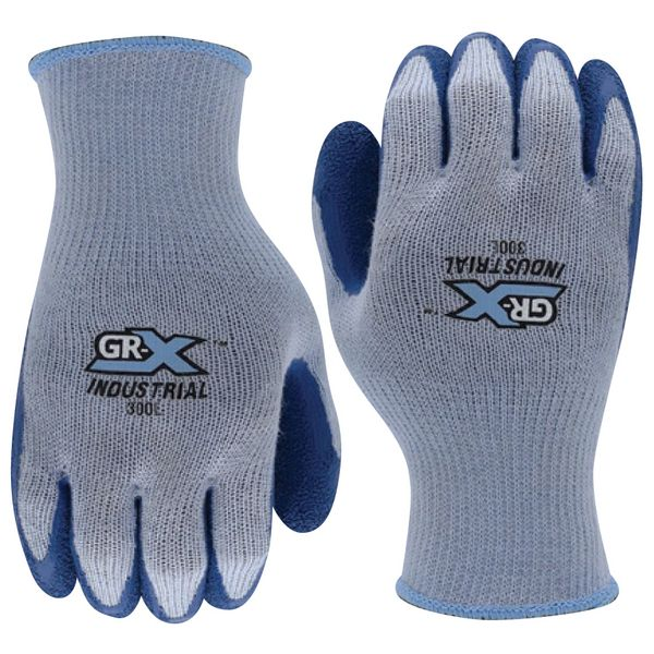 GUANTE GRXIND300XL LATEX AZUL X-LARGE 10G